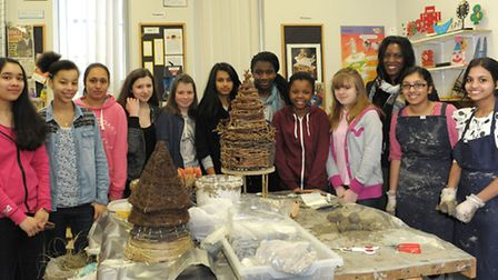 Young Female Engineer of the Year Yewande Akinola visits Ursuline Academy Ilford and talks to year n