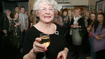 Surprise anniversary for Brenda Mudge, age76 who has worked for the same firm for 60 years, at The