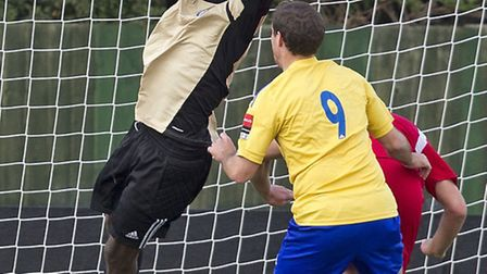 Romford goalie Atu Ngoy was victim of some alleged racist abuse in midweek (Ray Lawrence/TGSPHOTO)