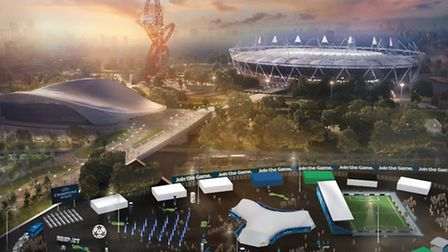 The annual UEFA Champions Festival to the Olympic Park