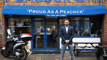 Danny Dyer has been filming at the famous Peacock Gym