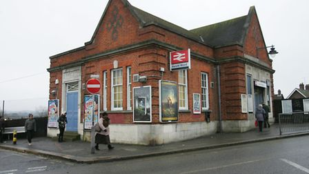 The man died at the scene at Harold Wood station