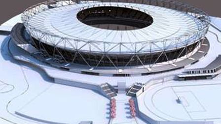Olympic Stadium with new extended roof