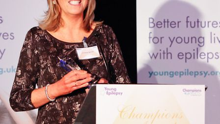 Christine Twomey collecting her award