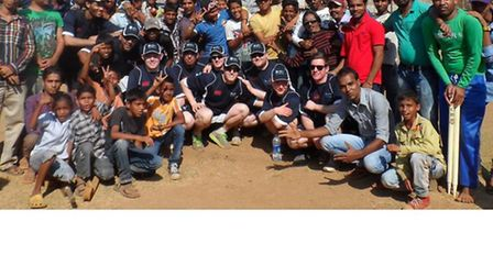 UEL's touring cricket team in India