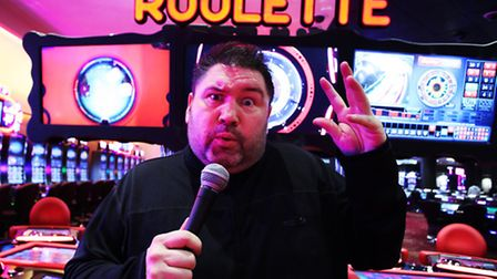 Comedian Ricky Grover at the Asper Casino in Westfield Straford City.