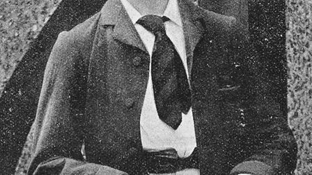 Charles Kortright, pictured in the book 'Famous Cricketers', published in 1896