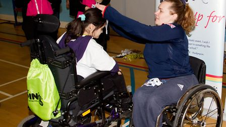 GB Paralympian Louise Sugden awards medals