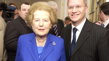 Margaret Thatcher and Norman Tebbit visited Romford in 2005