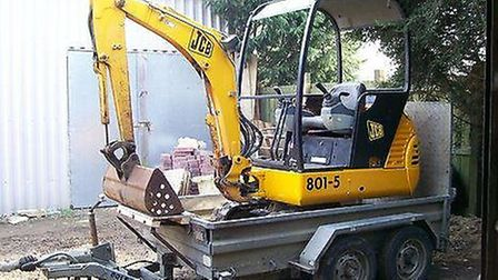 The JCB digger was stolen together with a trailer from the garden centre