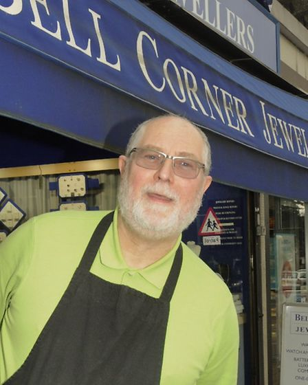 Roger Anthony, of Bell Corner Jewellers in Corbets Tey Road, says the lack of parking is a problem f