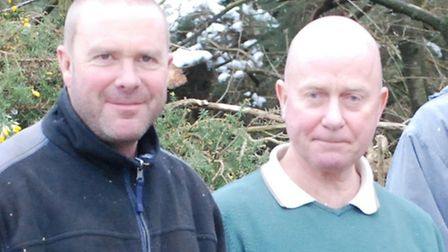 Stuart Runciman (right) with his assistant Steve Thorogood