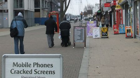 A boards in North Street, Romford