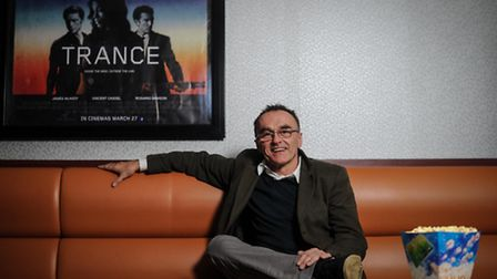 Oscar winning, British film Director Danny Boyle prepares for a preview screening of his new film 'T