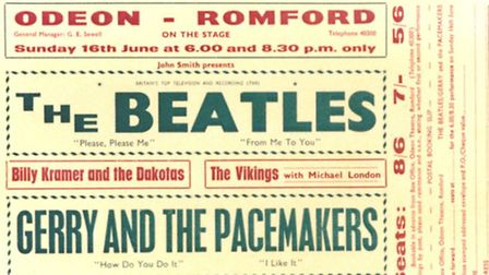 Handbill from The Beatles concert on June 16. Picture: Tracks