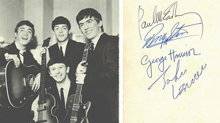 The Beatles autographs from the June concertPicture: Tracks