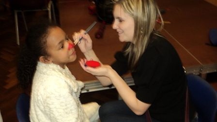 Pupils could get their nose painted at Grange Primary School on Red Nose Day.