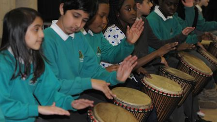 African drumming at Cranbrook Primary School