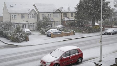 Snow in Aldborough Road North. Picture posted to iwitness24 by Ron Jeffries