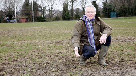 Charles Price is hoping to introduce a pitch drainage system at Woodford Rugby Club