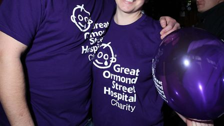 Dale Hayes and Claire Bowler raise money for Great Osmond Street Hospital charity at the Boleyn Tave