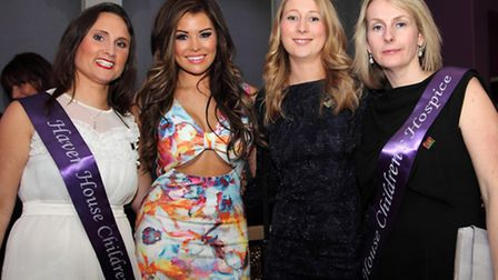 Jess Wright of The Only Way Is Essex (second from left) with Haven House fundraisers