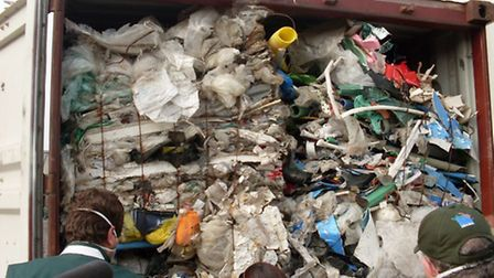 Around 15,000 tons of hazardous waste disguised as plastic was shipped to Brazil. Picture Central Ne
