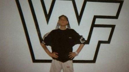 Karl, aged 19, when he still dreamed of becoming a wrestler.