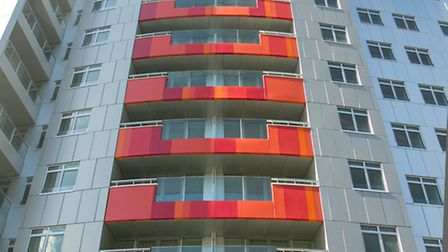 The Vermilion building in Canning Town.