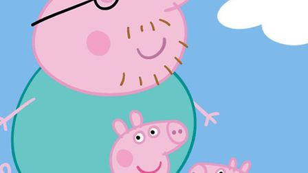 Daddy Pig, with Peppa Pig and George - coming to the Stratford Centre.