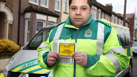 Paramedic Sultan Mahmoud is upset at Newham Council as his ambulance keeps on getting parking ticket