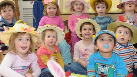 Kids Inc Nursery children have made Easter Bonnet's to celebrate the Easter holidays. Group photos o