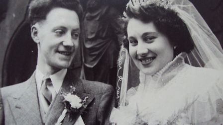 Charlie and Janet Oates on their wedding day.