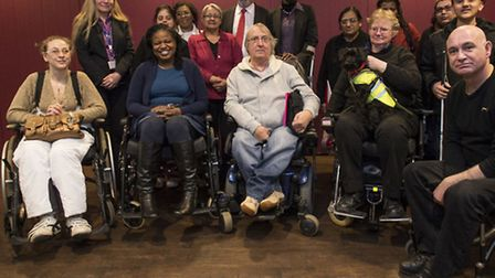 Newham residents gathered at West Ham Football Ground for consultation by Newham Cocunil on disabled