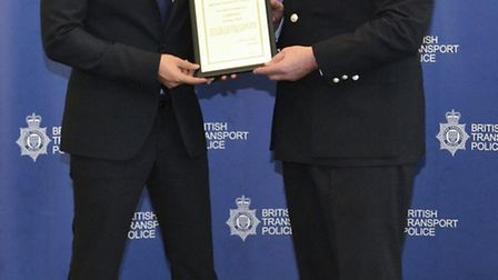 Jahangir Khan and Chief Constable Andrew Trotter (L-R)