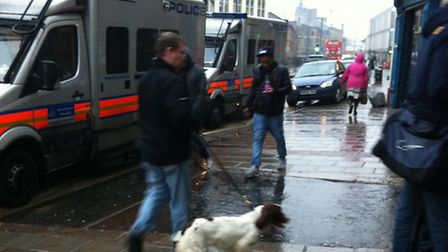 Police carry out a raid on Another Level Hair Studio in Stratford