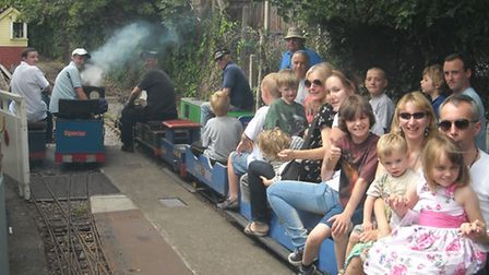 You can ride the club's steam locomotives at open days.