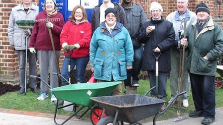 Volunteers put their back into work at the gardens of St Margaret's Church