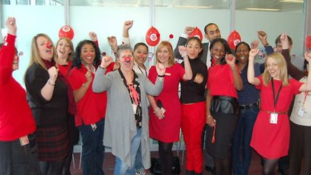 East Thames Housing staff stepped out in red for Comic Relief.