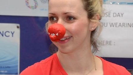 UEL volunteers donned red noses for a coffee morning to support Comic Relief.