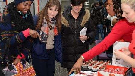 UEL students pick out treats.