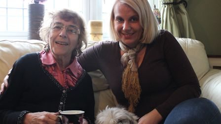 Picture: (L-R) Janet Hobson with friend and carer Sarah Stanley