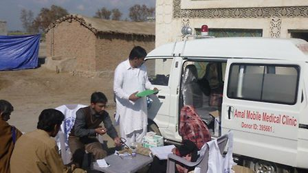 Ambulances are brought out to help people reach hospitals