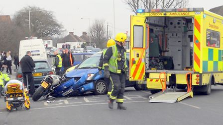 The accident on Thursday in Chase Cross Road