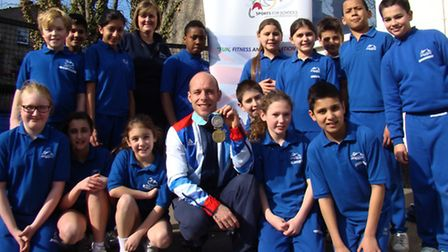 Peter Waterfield and his Athens 2004 (10m synchronised) Olympic silver medal and his Manchester 2002