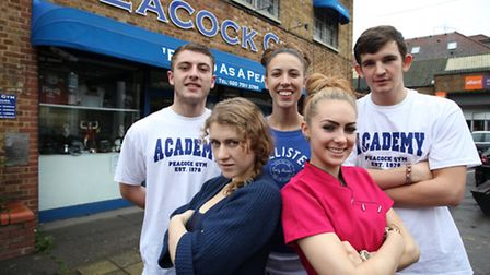 Young student mentors (L-R) Danny Steadman, Emily Energie, Jodie Robson, and Patrick Jones from Peac