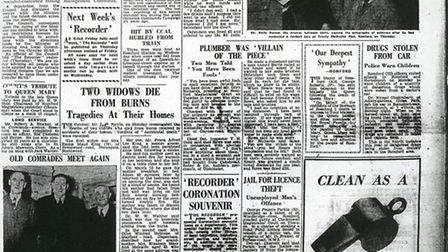 The Recorder front page, week 13, 1953