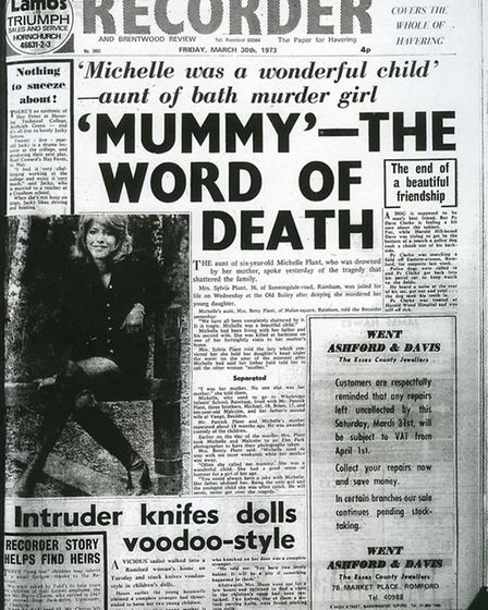 Romford and Hornchurch Recorder front page, week 13, 1973