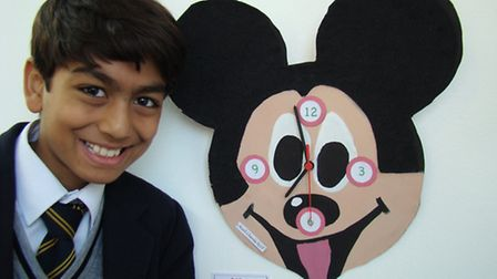 Kush Chavda with his project.