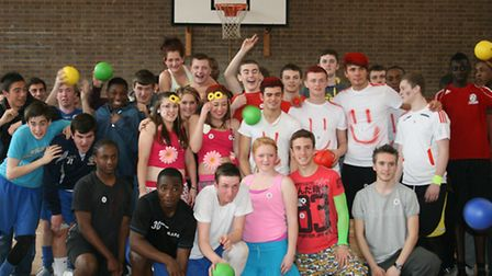 Students at Havering College's Quarles campus dressed up and held a dodgeball, basketball and indoor